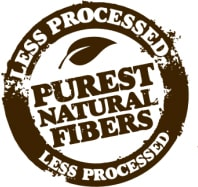 Natural unrefined fibers