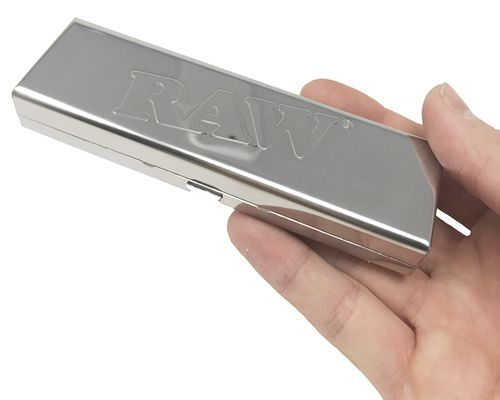 RAW® Vloei Case - Polished stainless steel - King Size