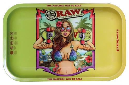 RAW® Rolling Tray - Brazil 2 - Small - 27.5 x 17.5 cm