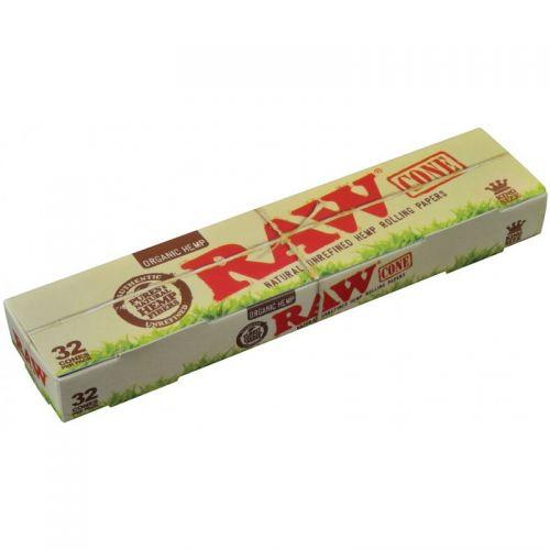 RAW® Organic Hemp - King Size Cone - 32 pack