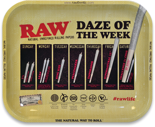 RAW® Rolling Tray - Daze - Medium - 34 x 27.5 cm