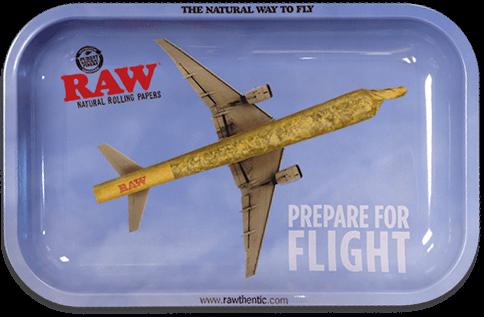 RAW® Rolling Tray - Flying - Small - 27.5 x 17.5 cm