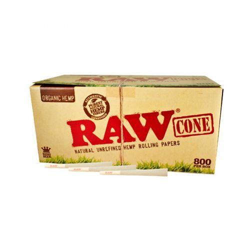 RAW® Organic Hemp - King Size Cone - 800 pack