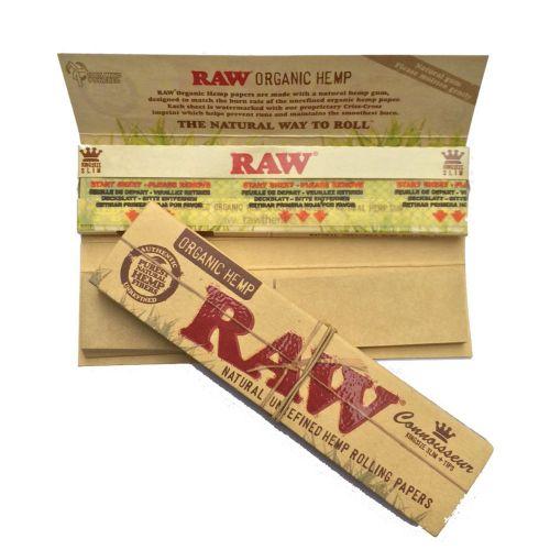 RAW® King Size Slim - Organic Hemp - Connoisseur + tips