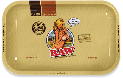 RAW® Rolling Tray - Girl - Small - 27.5 x 17.5 cm
