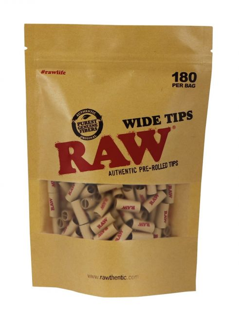 RAW® Pre-rolled Filter Tips - 7 mm - Wide