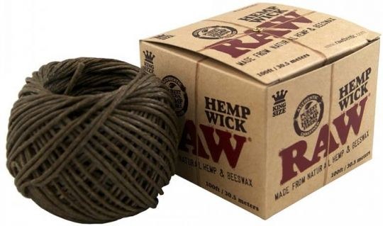 RAW® Hemp Wick Aansteek lont - 30.5 meter