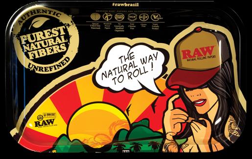 RAW® Rolling Tray - Brazil - Small - 27.5 x 17.5 cm