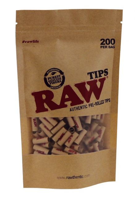 RAW® Pre-rolled Filter Tips - 6mm - 200 pack