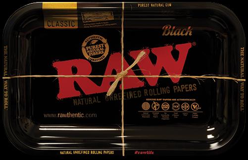 RAW® Classic Black - Rolling Tray - Small - 27.5 x 17.5 cm