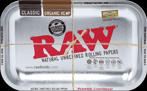 RAW® Rolling Tray - Metallic - Small - 27.5 x 17.5 cm