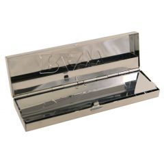 RAW® Vloei Case - Polished stainless steel - King Size + pre-rolled tips