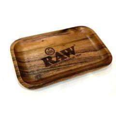RAW® Rolling Tray - Wood - Small - 27.5 x 17.5 cm
